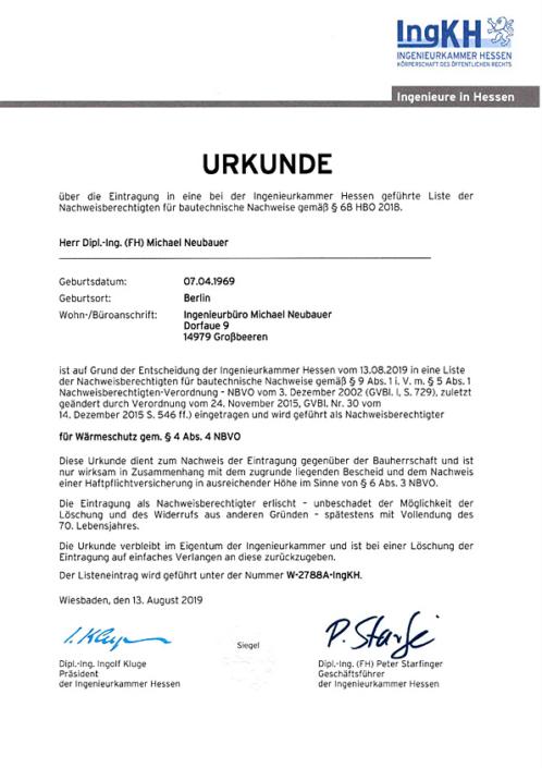 Urkunde-Hessen-Wärmeschutz